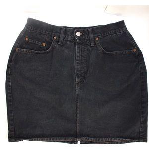 Replay Perfect Classic Black Denim Mini Skirt